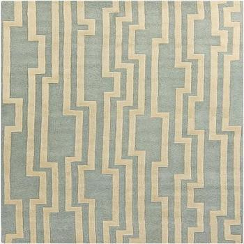Rugs - Hand Tufted Modern Classics Light Grey Rug design by Surya I Burke Decor - modern gray and ivory rug, gray and ivory geometric rug, gray blue and ivory rug,