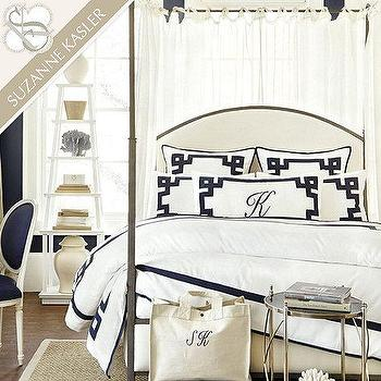 Bedding - Suzanne Kasler Greek Key Bedding | Ballard Designs - greek key bedding, linen greek key bedding, indigo greek key bedding, greek key bed linens,
