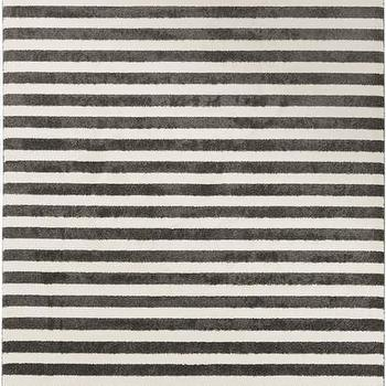 Rugs - Horizon Ivory Rug design by Surya I Burke Decor - gray and white striped rug, gray and ivory striped rug, ivory and charcoal striped rug,