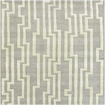 Rugs - Hand Tufted Modern Classics Grey Rug design by Surya I Burke Decor - gray and cream rug, modern gray and cream rug, gray and cream geometric rug,