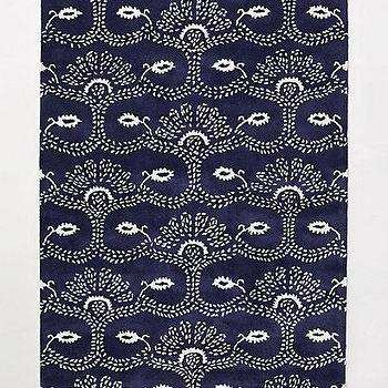Rugs - Arletta Rug I anthropologie.com - navy and white rug, navy and white patterned rug, navy and white ethnic rug,