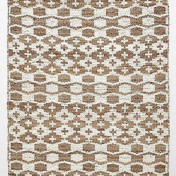 Rugs - Arrowhead Rug I anthropologie.com - brown and white jute rug, patterned jute trug, brown and white patterned rug,