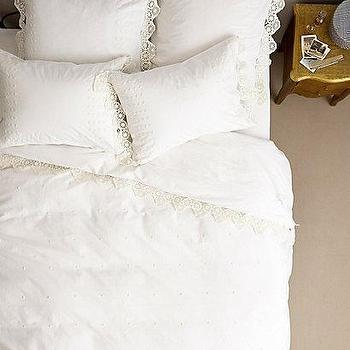 Bedding - Enna Duvet I anthropologie.com - lacy edged bedding, lace edged duvet, lace trimmed bedding, lace trimmed duvet,