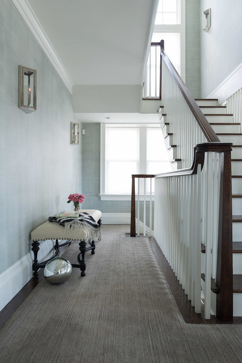 Second Floor Landing Ideas Transitional Entrance Foyer