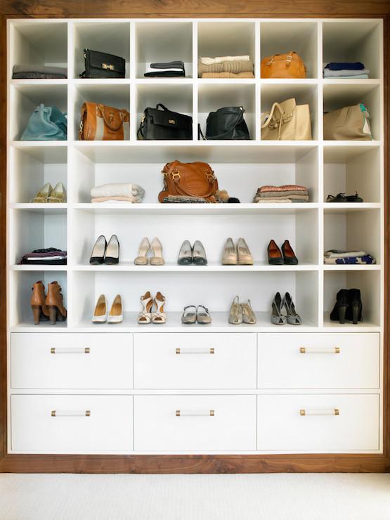 Handbag Display Cabinet - Transitional - closet - Amory Brown
