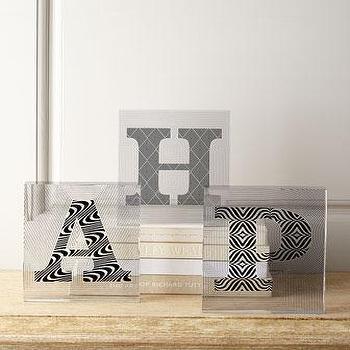 Decor/Accessories - Jonathan Adler Lucite Letters I Horchow - lucite letters, lucite block letters, modern lucite letters,