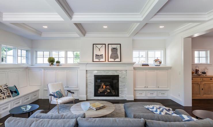 Living Room Built Ins Transitional Living Room