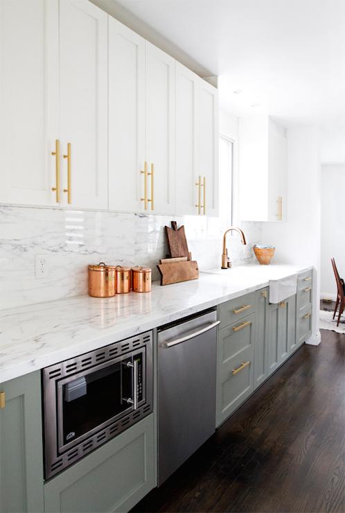 kitchen cabinets, brass hardware, brass cabinet hardware, white upper