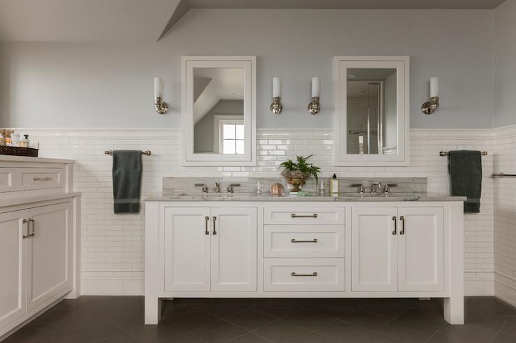 Luca De Luna Quartzite Transitional Bathroom Benjamin Moore Revere Pewter Carpenter And