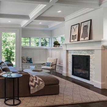 Wraparound Built Ins, Transitional, living room, Peterssen Keller Architecture