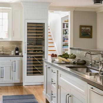 Silver Travertine, Transitional, kitchen, Carpenter and MacNeille