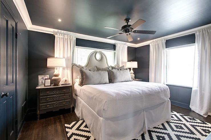 Blue And Gray Bedrooms Transitional Bedroom Har