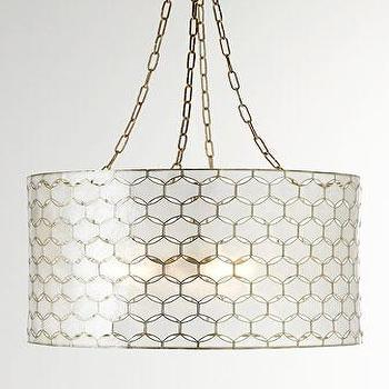 Lighting - Felicity Capiz Pendant Light I Horchow - capiz drum pendant, capiz shell pendant light, interlocking capiz pendant,