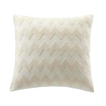 Pillows - Echo Mykonos Cotton Square Throw Pillow | Overstock.com - neutral chevron pillow, cream and white chevron pillow, cream zig zag pillow,