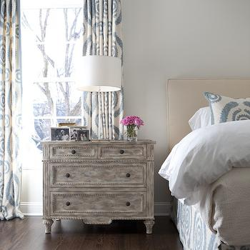 Distressed Nightstand, Transitional, bedroom, Tiffany Jones Interior Design