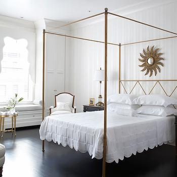 Gold Canopy Bed, Transitional, bedroom, Eva Quateman Interiors