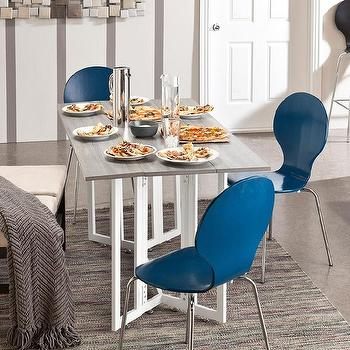 Tables - Holly & Martin Driness Drop Leaf Table | Overstock.com - gate leg dining table, weathered gray and white dining table, gate leg drop leaf dining table, white gate leg table with gray top,
