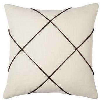 Pillows - Nate Berkus Decorative Braided Pillow I Target - criss cross braided pillow, ivory and brown modern pillow, geometric brown and ivory pillow,