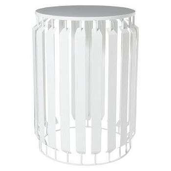 Tables - Nate Berkus Metal Accent Table - White I Target - white metal accent table, white metal drum table, modern white side table,