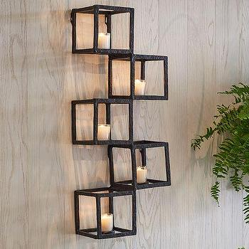 Art/Wall Decor - Modular Wall Votive Holder | Pottery Barn - modular iron votive holder, iron candle votive holder, iron wall votive holder,