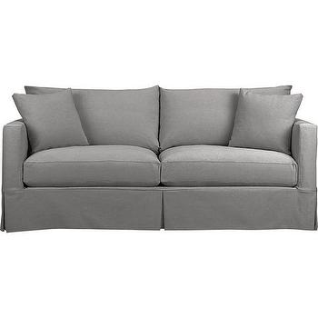Seating - Willow Queen Sleeper Sofa with Air Mattress | Crate and Barrel - gray track arm sofa, gray sleeper sofa, contemporary gray sofa, contemporary gray sleeper sofa,
