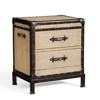 Storage Furniture - Redford Trunk Bedside Table | Pottery Barn - trunk beside table, trunk nightstand, steamer trunk style nightstand,
