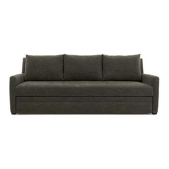 Seating - Reston Queen Sleeper Sofa | Crate and Barrel - charcoal gray sofa, modern charcoal gray sofa, charcoal gray sleeper sofa,
