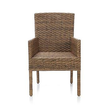 Seating - Tigris Arm Chair | Crate and Barrel - rattan arm chair, contemporary rattan arm chair, rattan dining chair,