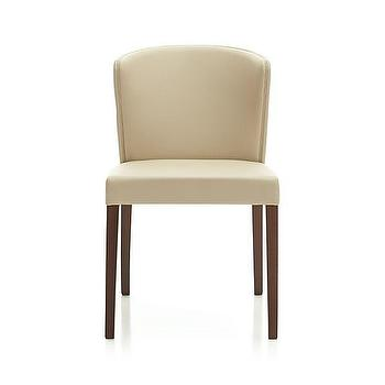 Seating - Curran Crema Side Chair | Crate and Barrel - beige side chair, beige upholstered side chair, contemporary beige dining chair,