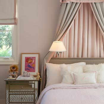 Pleated Bed Valance, Transitional, girl's room, Marie Christine Design