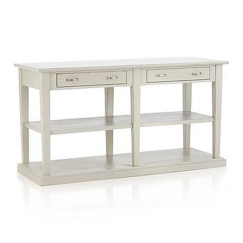 Tables - Trattoria Sideboard | Crate and Barrel - cream sideboard, cream two drawer sideboard, contemporary cream side board,