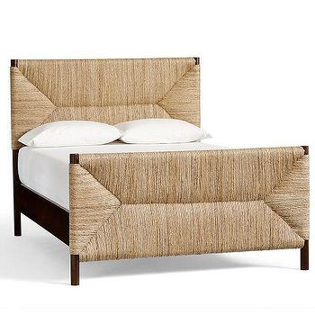 Beds/Headboards - Corbin Bed & Headboard | Pottery Barn - woven bed, banana leaf headboard, bed with woven headboard, woven framed bed,