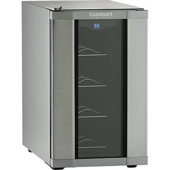 Storage Furniture - Cuisinart 8-Bottle Wine Cellar in Food Storage | Crate and Barrel - wine cellar, 8 bottle wine fridge, glass front mini wine fridge, countertop wine chiller,