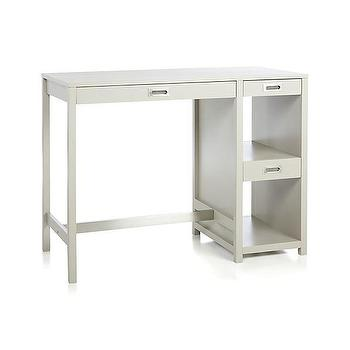 Tables - Wabash High Dining Table | Crate and Barrel - storage dining table, gray dining table with storage, counter height desk, high top desk,