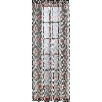 Window Treatments - Ikat Grey Curtain Panels | Crate and Barrel - pink and gray ikat drapes, pink and gray ikat curtains, ikat curtain panels,