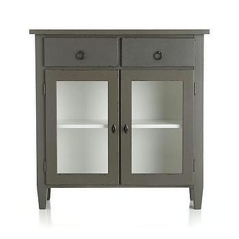Storage Furniture - Stretto Entryway Cabinet | Crate and Barrel - gray entryway cabinet, gray entryway storage, modern entryway cabinet, gray storage cabinet,