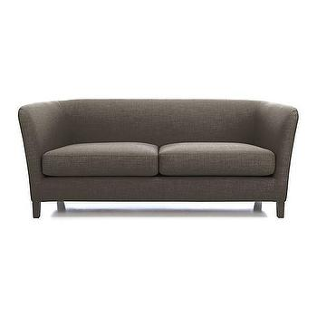 Seating - Ollie Sofa | Crate and Barrel - taupe sofa, modern taupe sofa, taupe shelter sofa,
