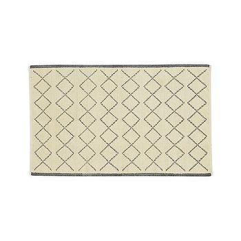 Rugs - Rex Rug | Crate and Barrel - gray and ivory geometric rug, gray and ivory jute rug, jute cotton rug,