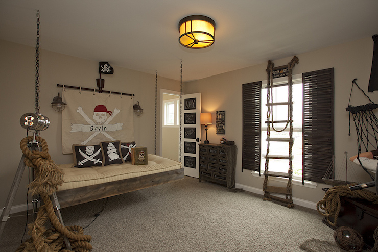 Pirate Themed Kids Room Eclectic Boy 39 S Room Bia Parade Of Homes