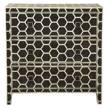 Storage Furniture - Honeycomb Chest | Jayson Home - honeycomb chest, hexagonal pattern chest, inlaid honeycomb storage chest,