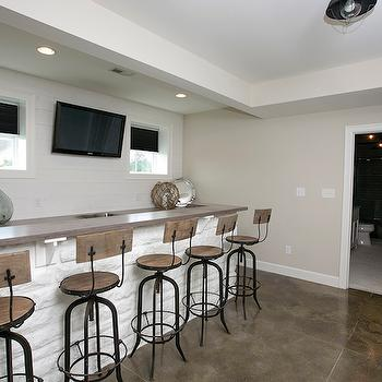 BIA Parade of Homes - basements - wet bar, wet bar ideas, basement wet bar, basement wet bar ideas, wet bar sink, long wet bar, industrial barstools, wet bar tv, wet bar basement,