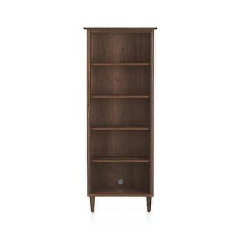 Storage Furniture - Kendall Walnut Bookcase | Crate and Barrel - modern walnut bookcase, walnut freestanding bookcase, freestanding black walnut bookcase,