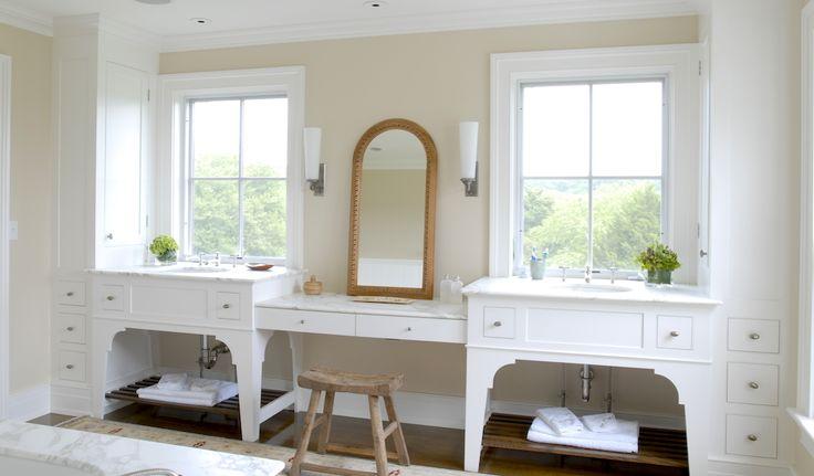 Window Over Vanity Transitional Bathroom Brooks