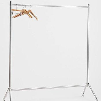 Storage Furniture - Rolling Clothing Rack I Urban Outfitters - rolling clothes rack, clothes rack on wheels, clothes rack on castors,