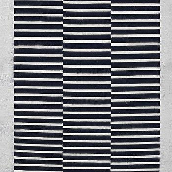 Rugs - 4040 Locust Offset Stripe Rug I Urban Outfitters - black and white striped rug, black and white geometrc rug, black and white stripe rug,