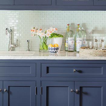 Blue Kitchen Cabinets, Transitional, kitchen, Katie Rosenfeld Design