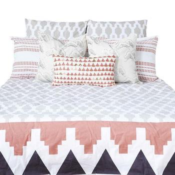 Bedding - Granada Duvet Cover design by Allem Studio I Burke Decor - pink and gray duvet, pink and gray moroccan bedding, pink and gray moorish bedding,
