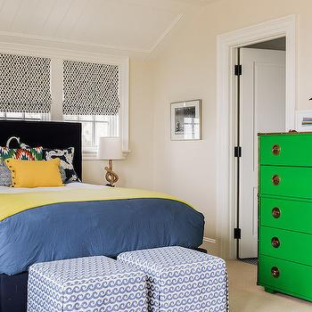 Green Dresser, Contemporary, bedroom, Katie Rosenfeld Design