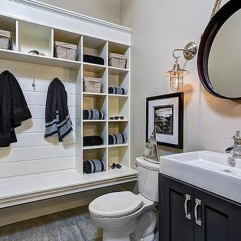 Powder Room Mudroom, Cottage, bathroom, Clark and Co Homes