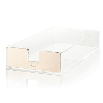 Decor/Accessories - Kate Spade Acrylic Desk Tray I Zhush - acrylic desk tray, acrylic storage tray, acrylic and gold desk tray,
